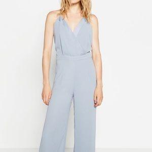 Zara Powder Blue Wide Leg Jumpsuit
